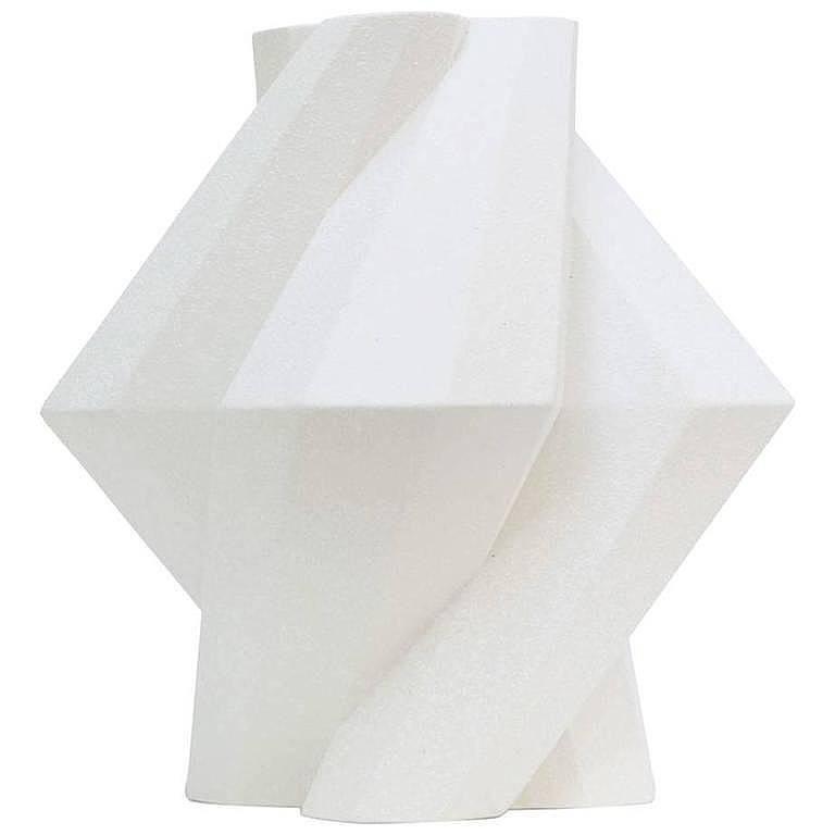 Lara Bohinc Fortress Pillar Vase White Crackle Ceramic For Sale At