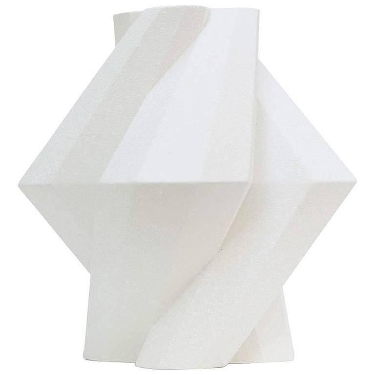 """Fortress Pillar"" White Ceramic Vase Designed by Lara Bohinc"