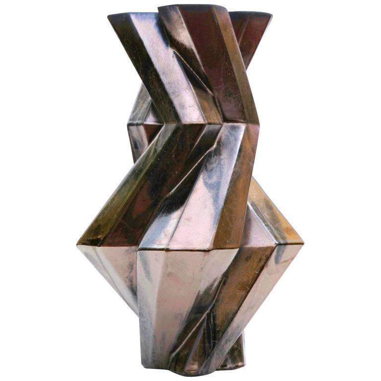 """Fortress Castle"" Bronze Ceramic Vase Designed by Lara Bohinc"