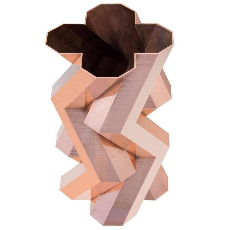 """""""Honey Bee"""" Large Copper Vase Designed by Lara Bohinc"""