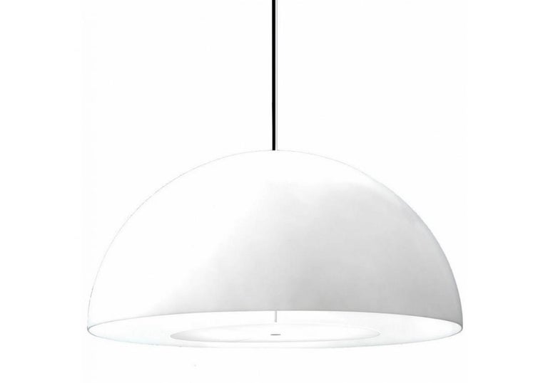 Modern FontanaArte 'Avico' White Outdoor Pendant Lamp Designed by Charles Williams For Sale