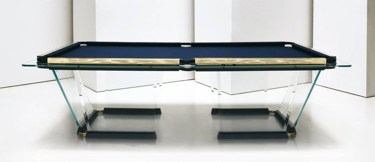Awesome T1 2 Crystal Pool Table With Gold Plated Covers By Marc Sadler For Teckell Interior Design Ideas Ghosoteloinfo