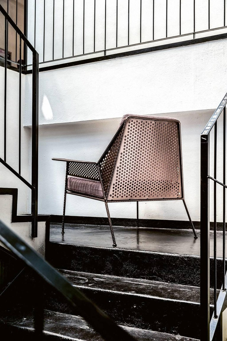 Quot Work Is Over Quot Lounge Chair In Varnished Steel By Moroso
