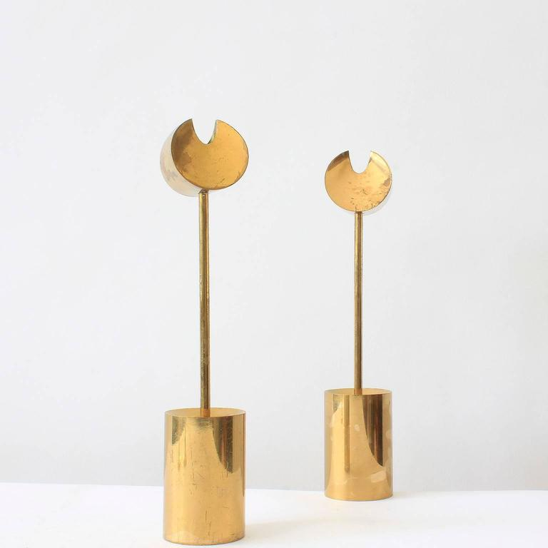 Pierre Forsell Brass Candleholders For Sale 2