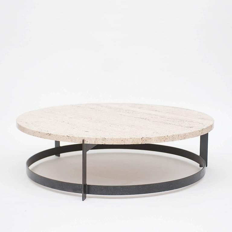 Travertine Slab Coffee Table: Travertine Low Table At 1stdibs