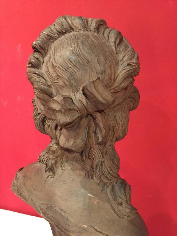 French Bust of a Young Woman For Sale 1