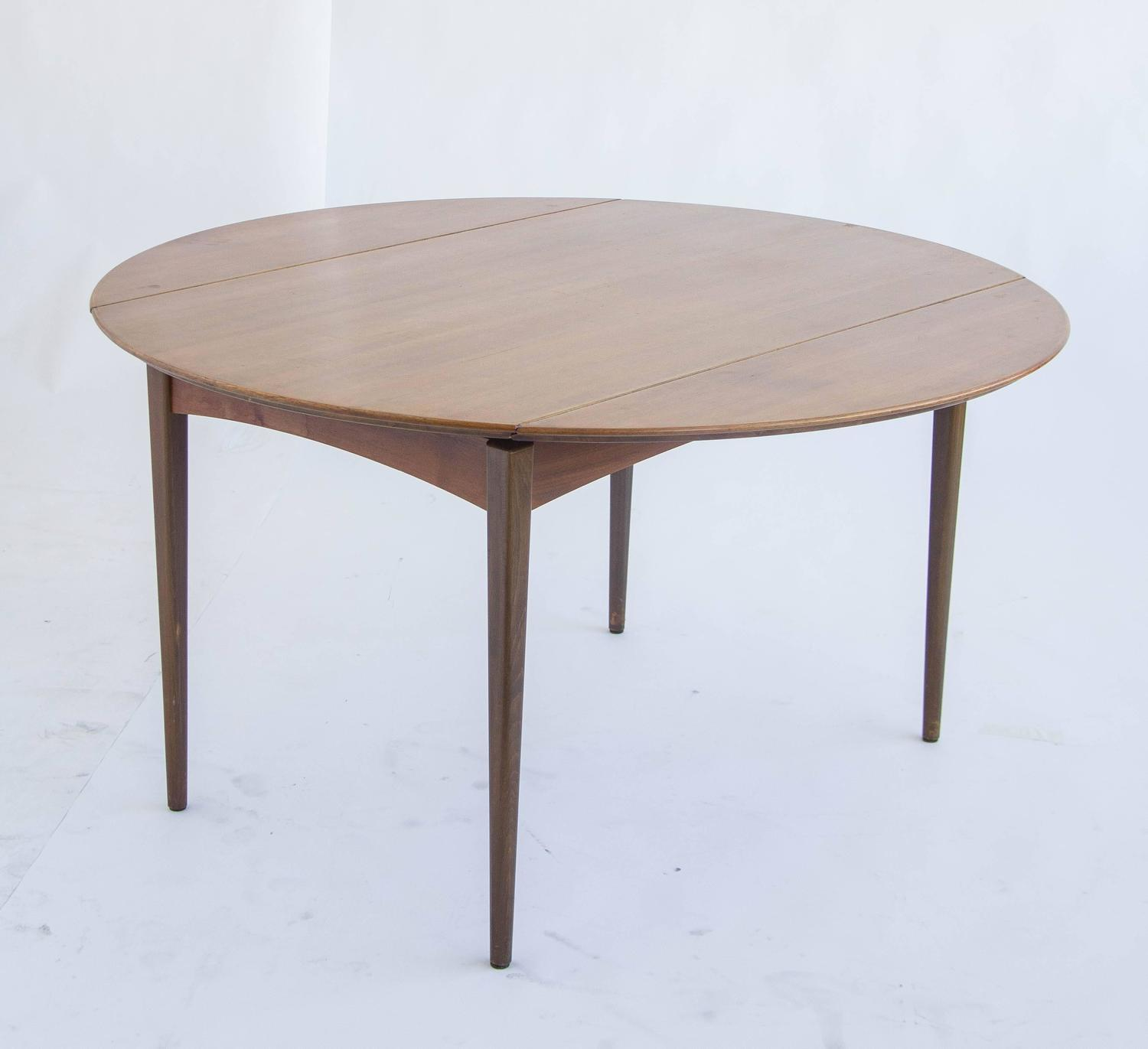 Dux of sweden round drop leaf dining table for sale at 1stdibs for Most beautiful dining room tables