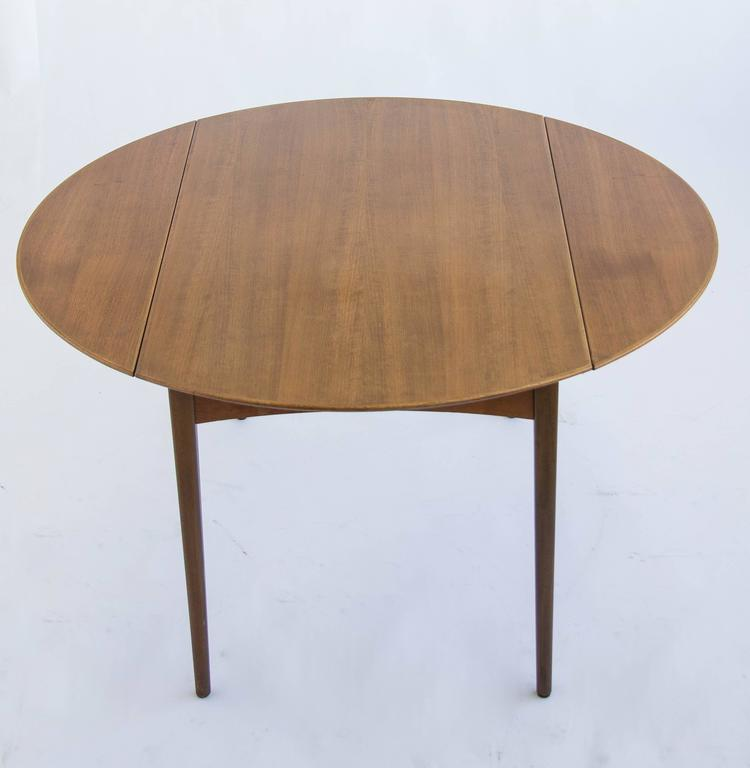 dux of sweden round drop leaf dining table for sale at 1stdibs