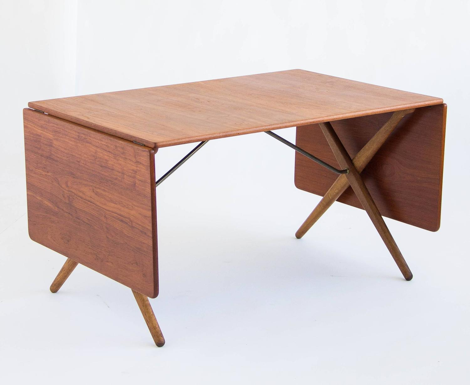 Hans j wegner cross leg dining table by andreas tuck model at 309 for sale at 1stdibs - Crossed leg dining table ...