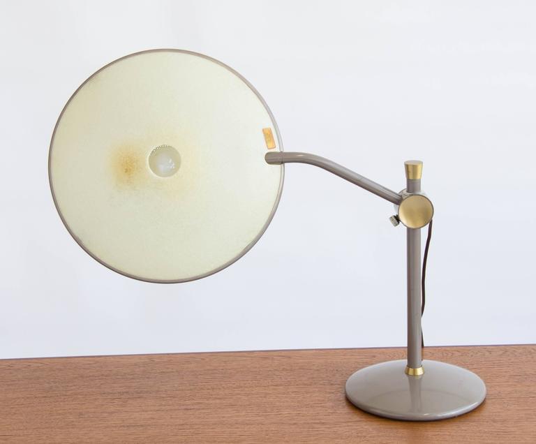 Mid Century Modern Dazor Model 2008 Saucer Desk Lamp For
