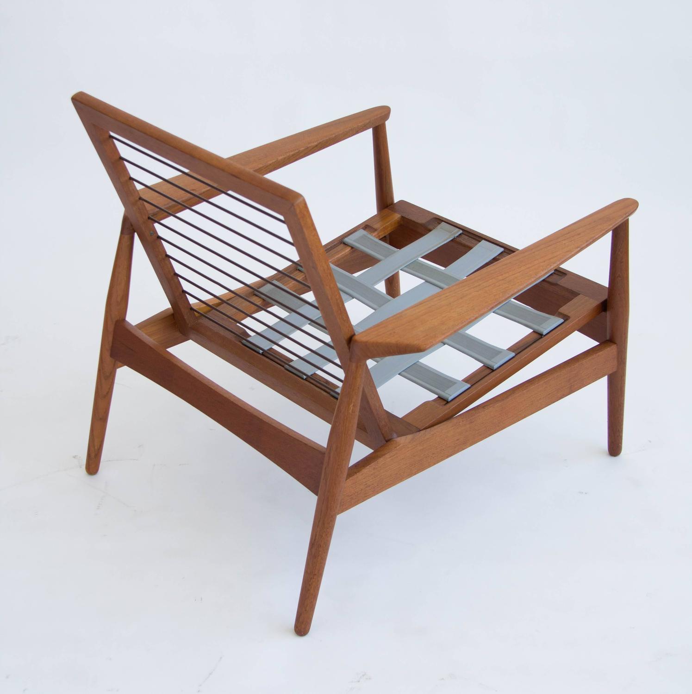Pair of Danish Teak Lounge Chairs at 1stdibs