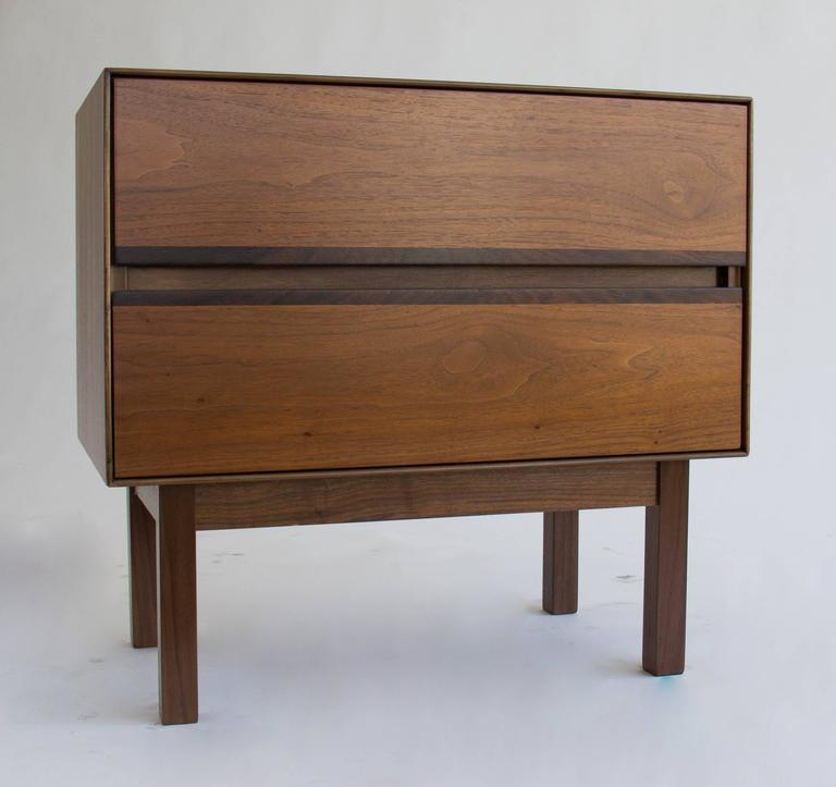 H. Paul Browning For Stanley Furniture Co. Walnut And Rosewood Nightstand 2