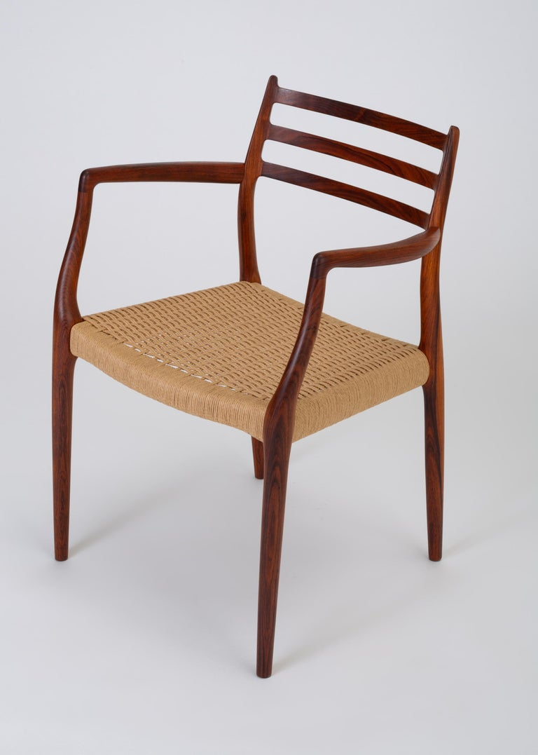 Set of Six Model 78 Rosewood Dining Chairs by N.O. Møller For Sale 8
