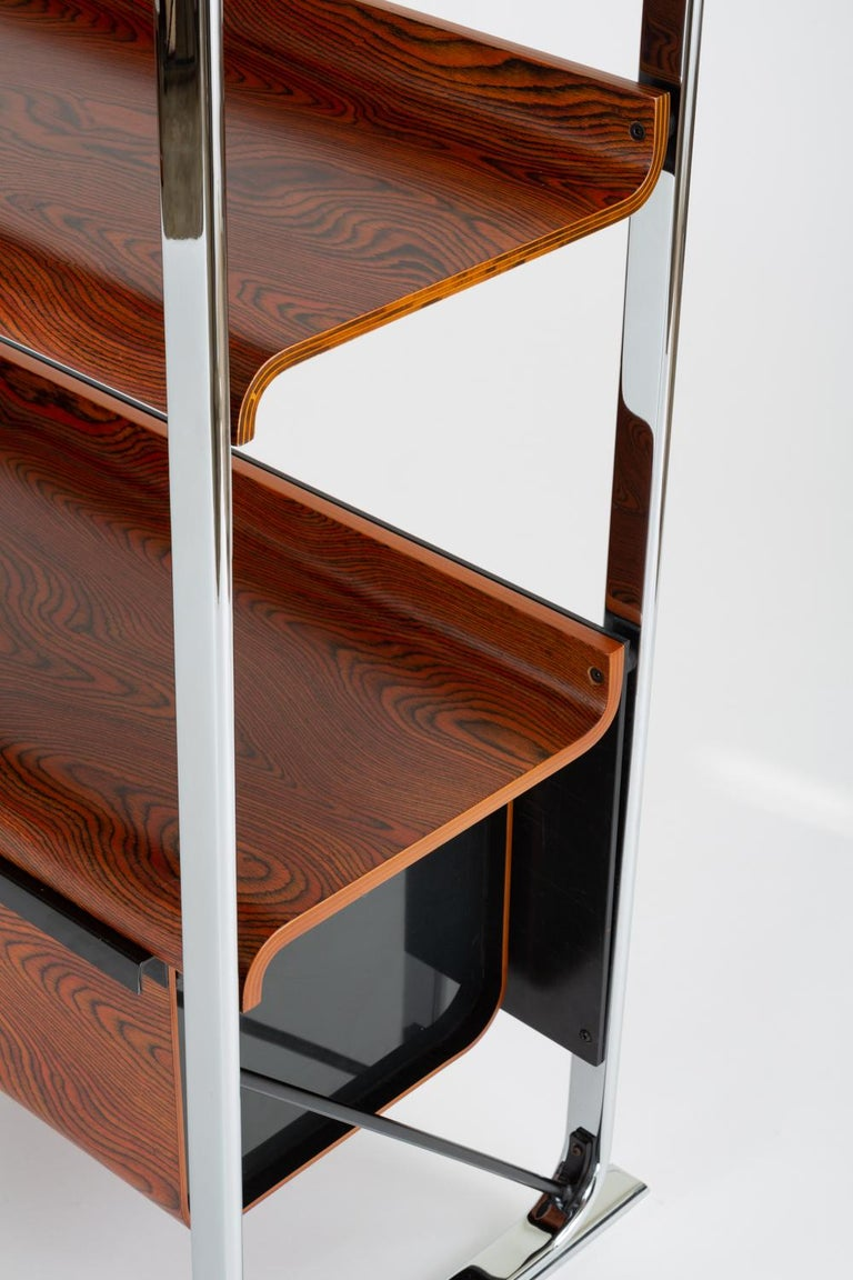 Zebrawood And Chrome Bookshelf By Peter Protzmann For Herman Miller Sale 4