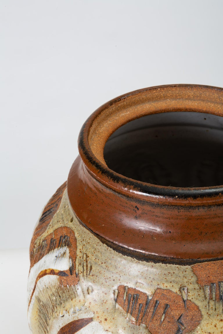 California Modern Large Studio Pottery Jar with Lid by Don Jennings For Sale 4