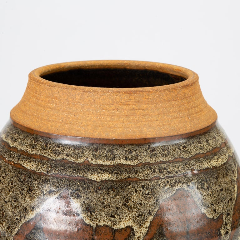 California Modern Studio Pottery Jar with Abstract Pattern by Don Jennings For Sale 2