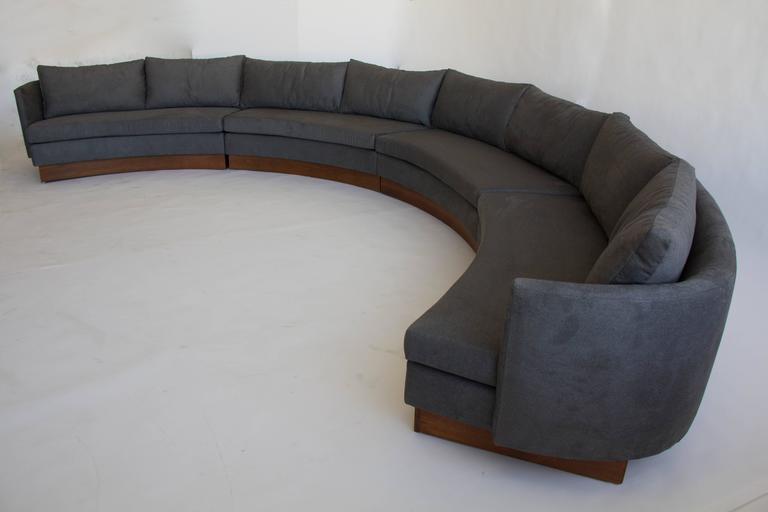 Mid Century Modern Custom Semi Circular Sectional By Carson S Of North Carolina For