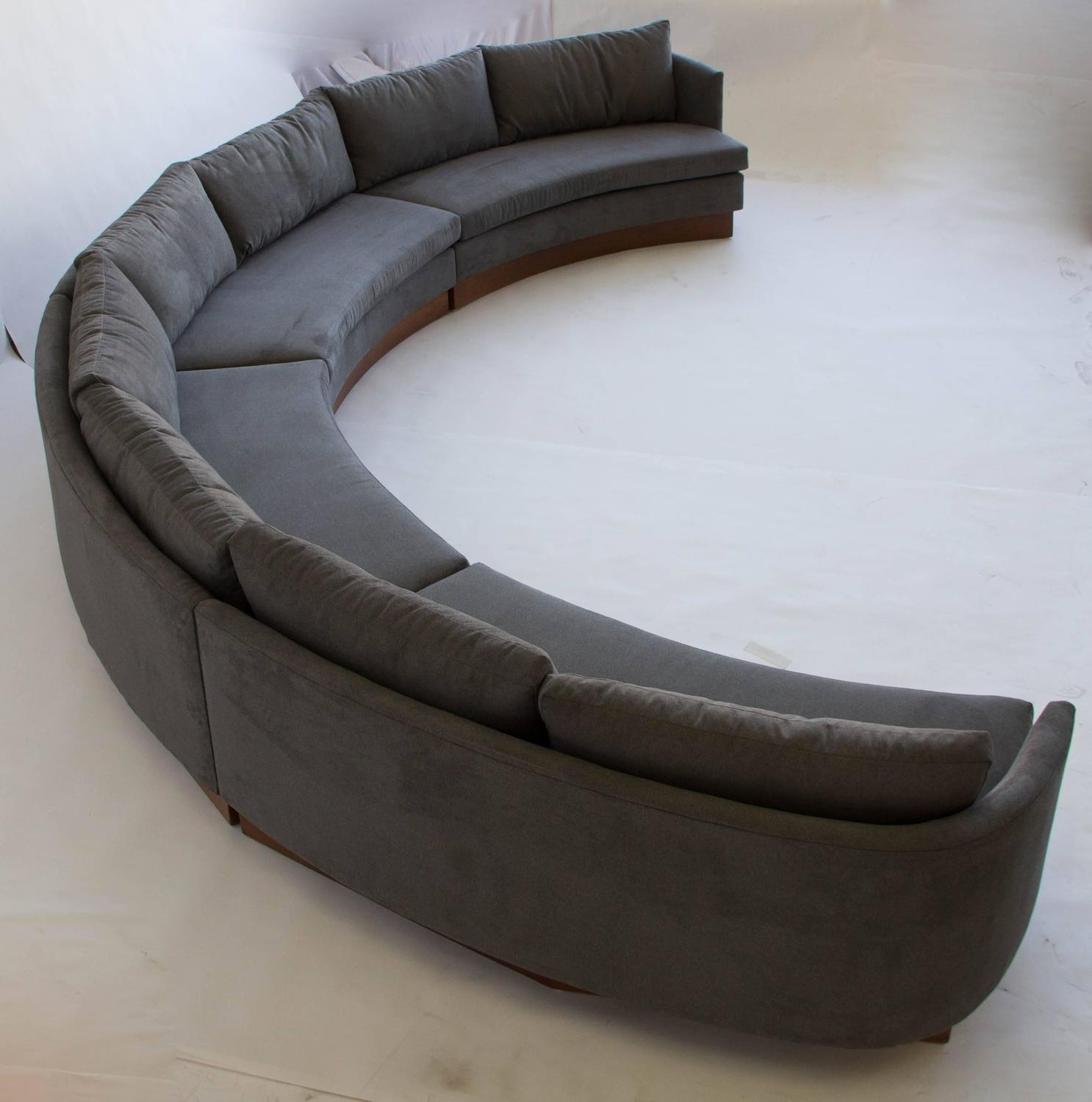 Custom Semi Circular Sectional By Carson 39 S Of North Carolina At 1stdibs