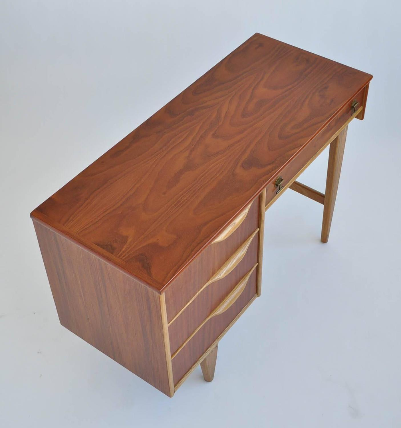 Walnut And Birch Writing Desk By American Furniture