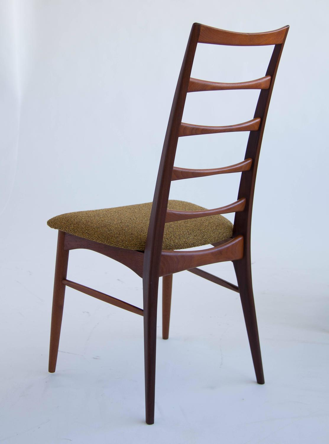 koefoeds hornslet teak ladder back dining chairs for sale at 1stdibs