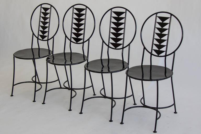 set wrought iron chairs style frank wright midway chair for sale philippines folding target gumtree