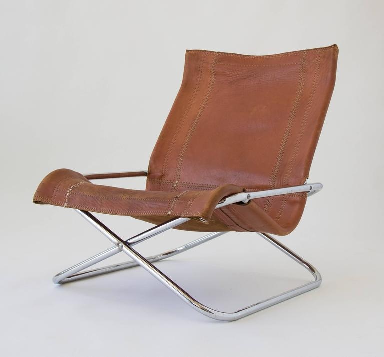 sueki uchida leather sling chair 2