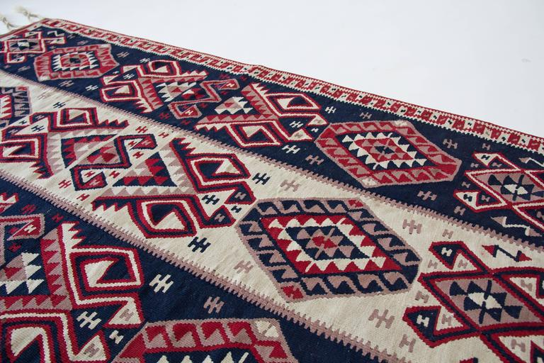 Antique Kilim Rug With Braided Fringe At 1stdibs