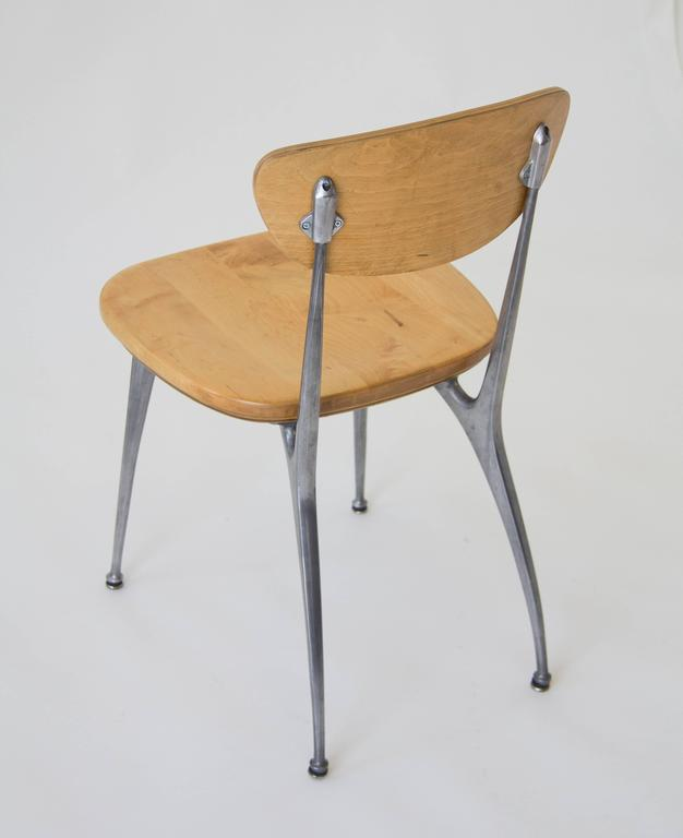 Mid-Century Modern Set of Four Shelby Williams Gazelle-Leg Dining Chairs