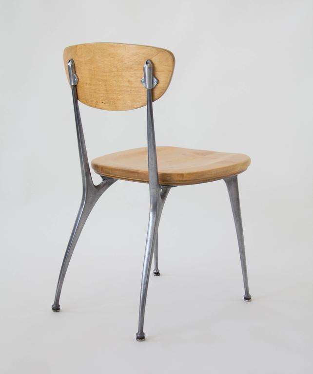 Mid-20th Century Set of Four Shelby Williams Gazelle-Leg Dining Chairs
