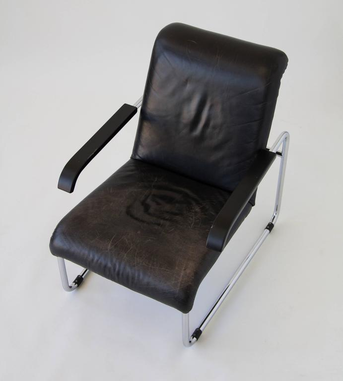 marcel breuer for thonet b35 leather lounge chair 3 - Leather Lounge Chair