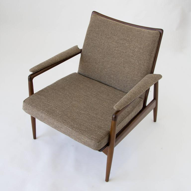 Danish Modern Lounge Chair Imported by Selig at 1stdibs