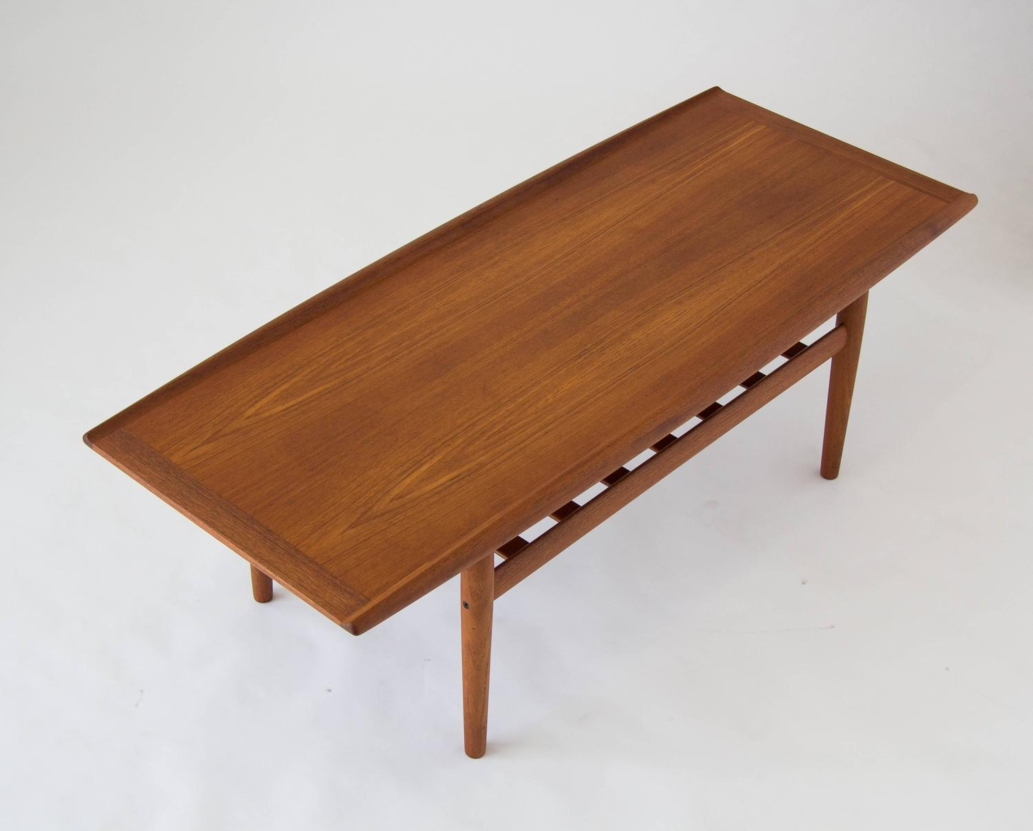 Grete Jalk Coffee Table With Slatted Shelf For Sale At 1stdibs
