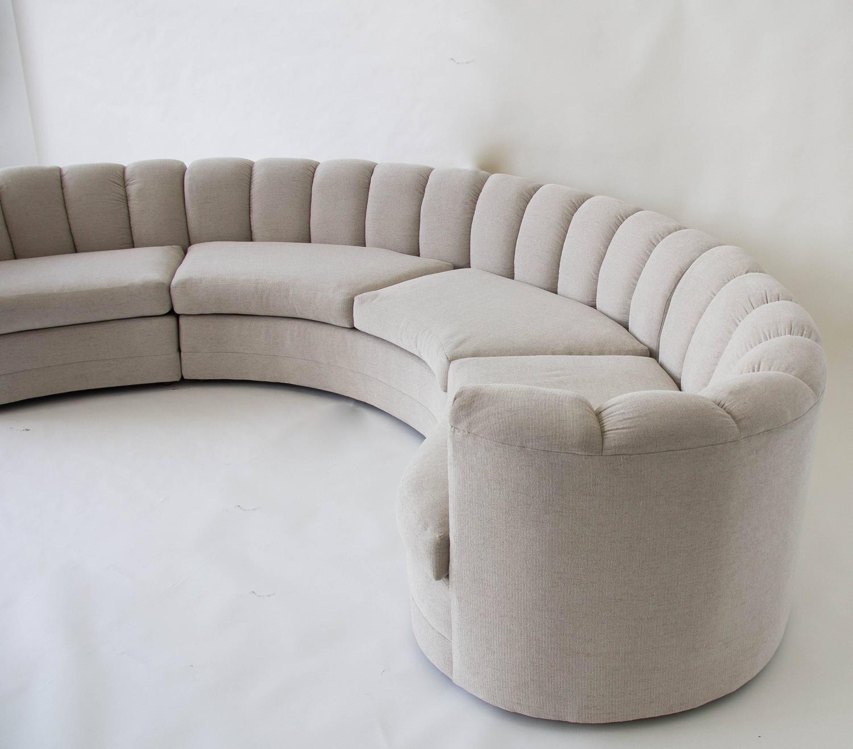 Custom 1980s Semicircular Sofa At 1stdibs