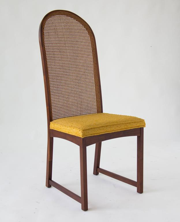 Set Of Six High Backed Cane Dining Chairs By Milo Baughman For Sale At 1stdibs