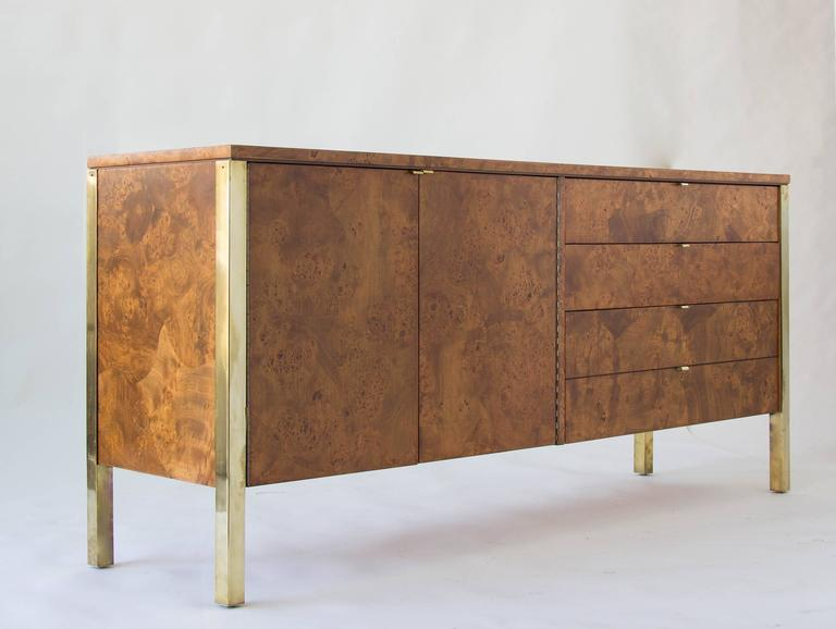 Tomlinson Burlwood Credenza Or Sideboard With Brass