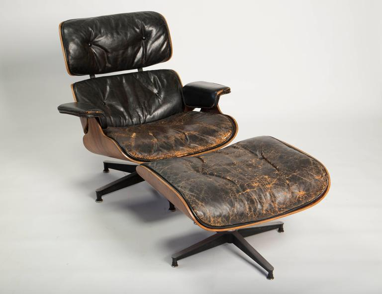 Early Eames 670/671 Lounge Chair and Rotating Ottoman 2