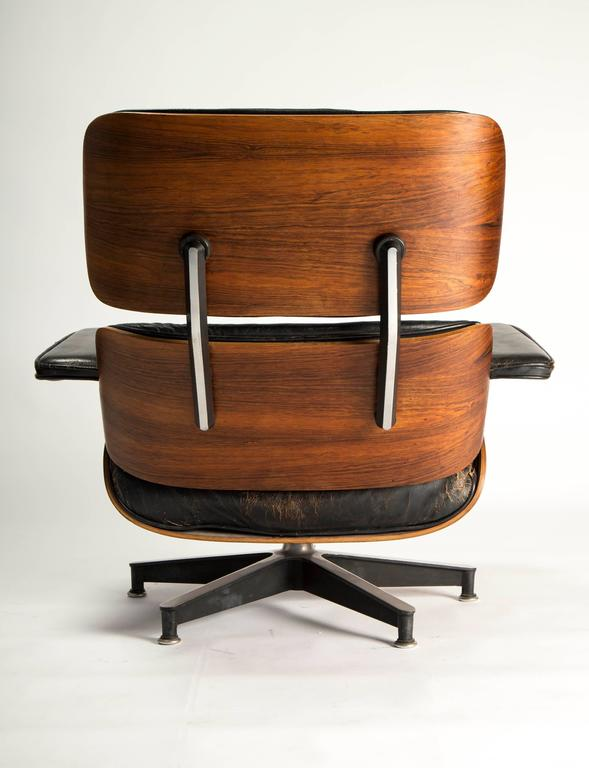 Early Eames 670/671 Lounge Chair and Rotating Ottoman 4
