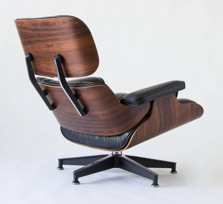1970s Eames 670/671 Lounge Chair with Ottoman 4