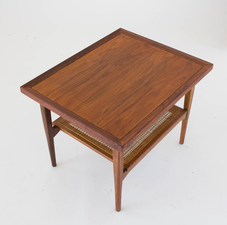 American Drexel Declaration Side Table with Cane Shelf For Sale