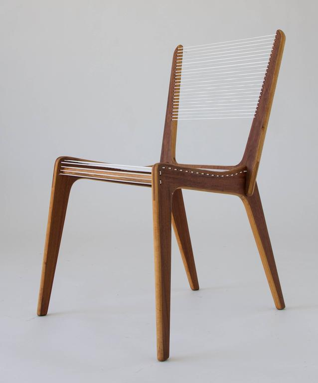 Canadian Jacques Guillon Cord Chair For Sale