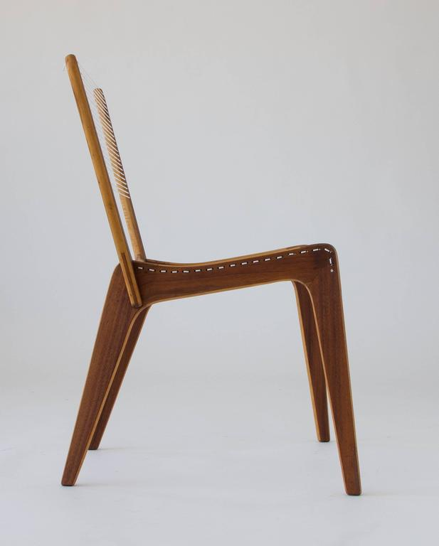 Mid-Century Modern Jacques Guillon Cord Chair For Sale