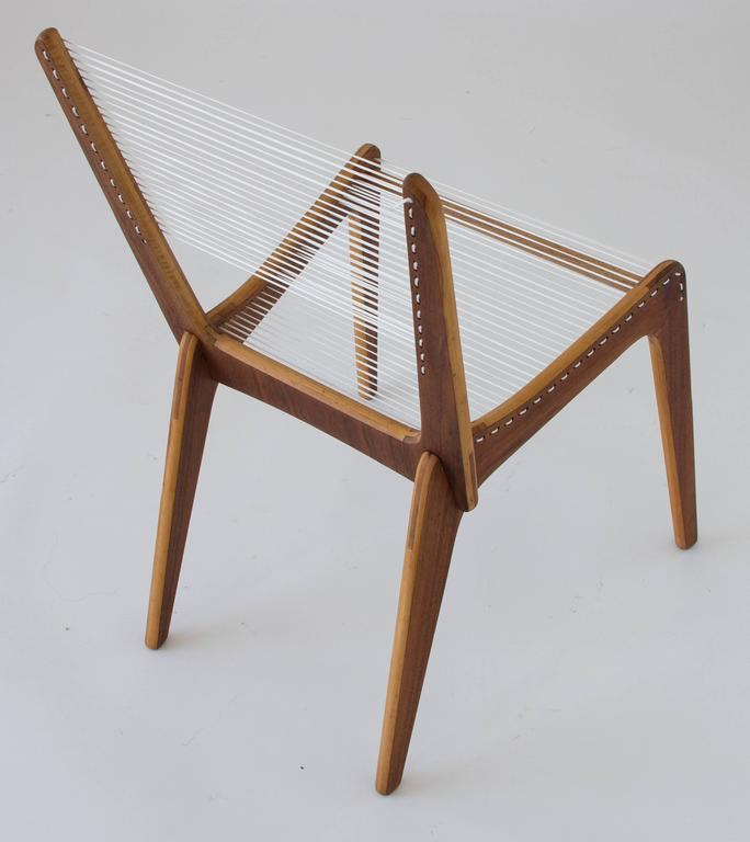 Jacques Guillon Cord Chair In Good Condition For Sale In Los Angeles, CA