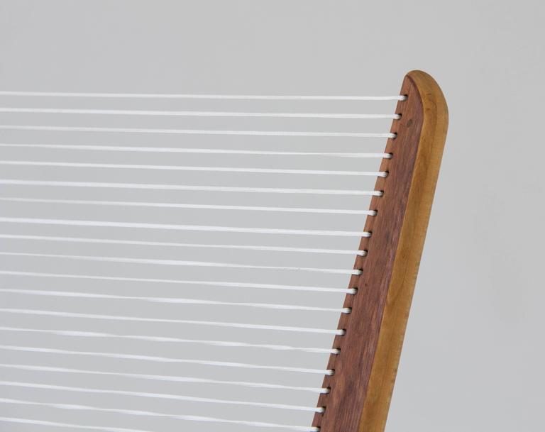 Nylon Jacques Guillon Cord Chair For Sale