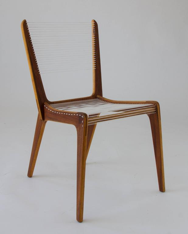 Mid-20th Century Jacques Guillon Cord Chair For Sale