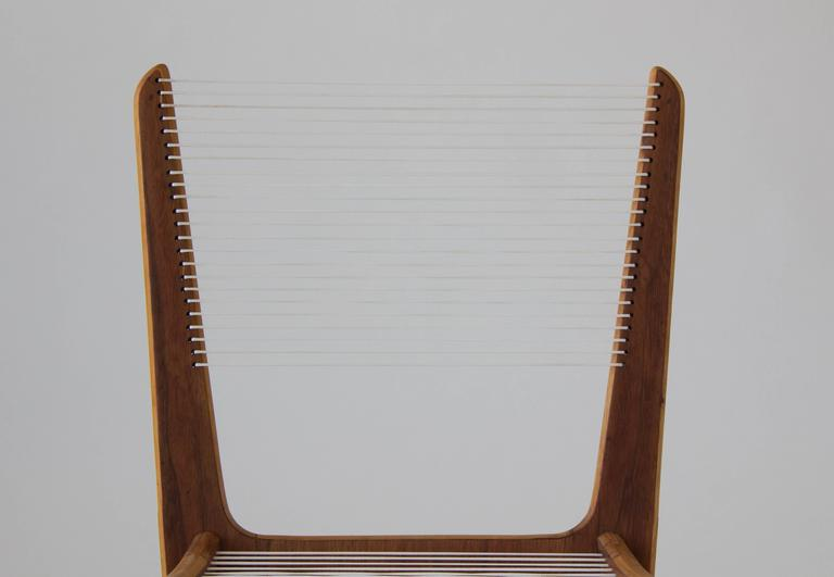 Jacques Guillon Cord Chair For Sale 1