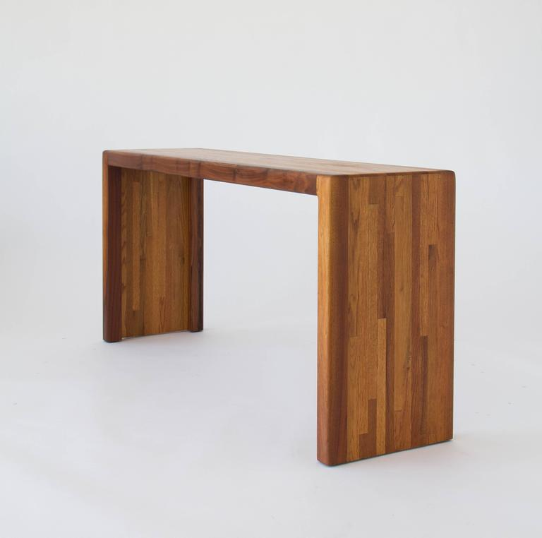 Mid Century Modern Lou Hodges Solid Wood Console Table For California Design Group
