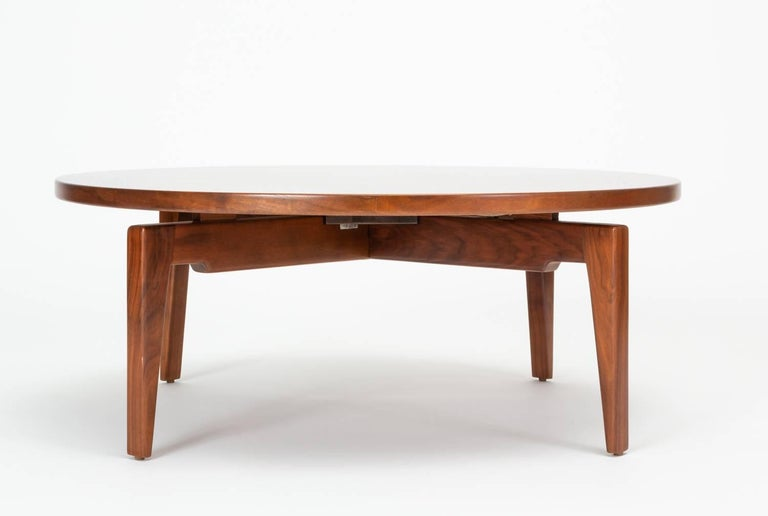 American Jens Risom Lazy Susan Coffee Table For Sale