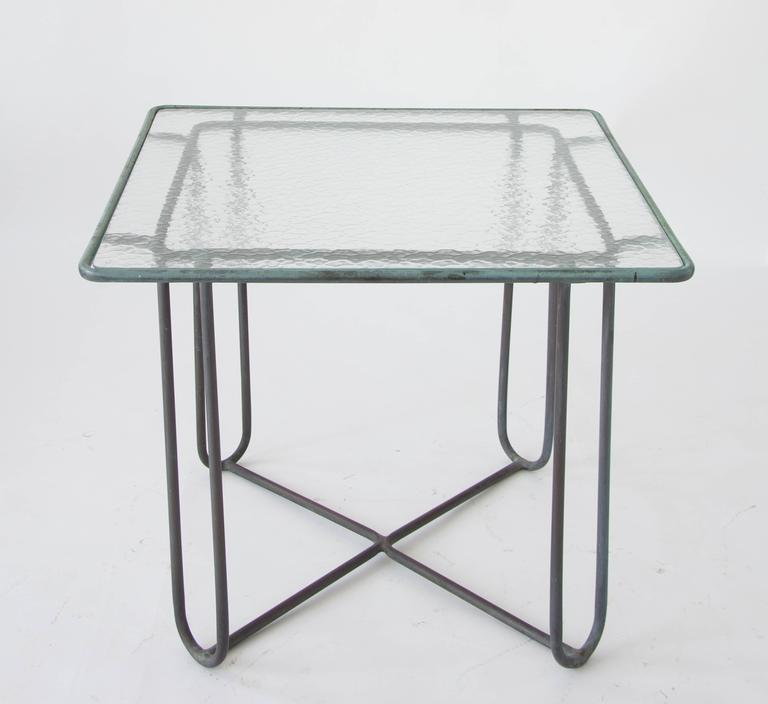 Mid-Century Modern Walter Lamb Square Patio Dining Table For Sale