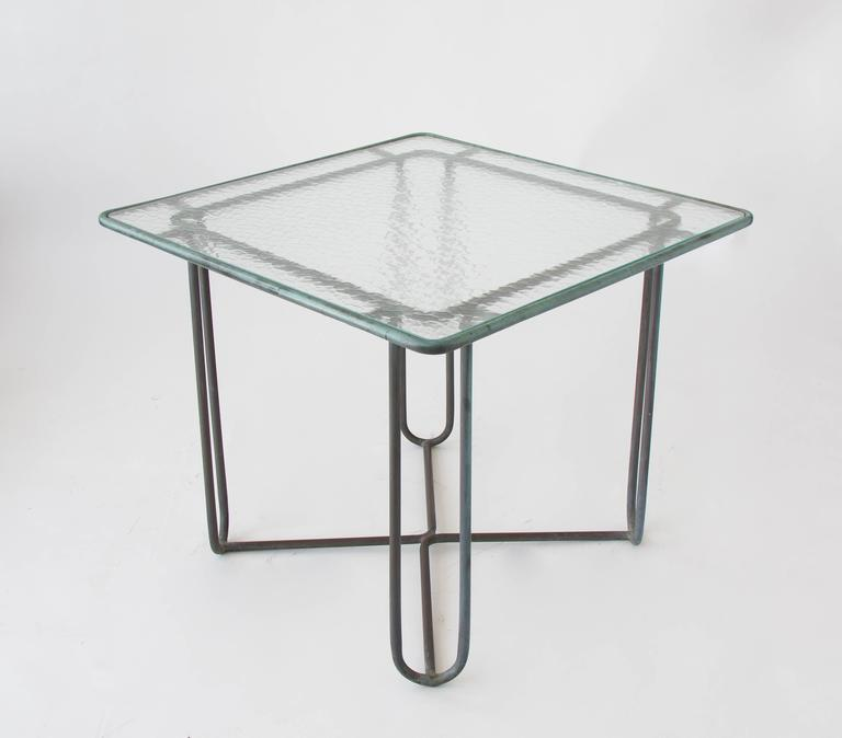 American Walter Lamb Square Patio Dining Table For Sale