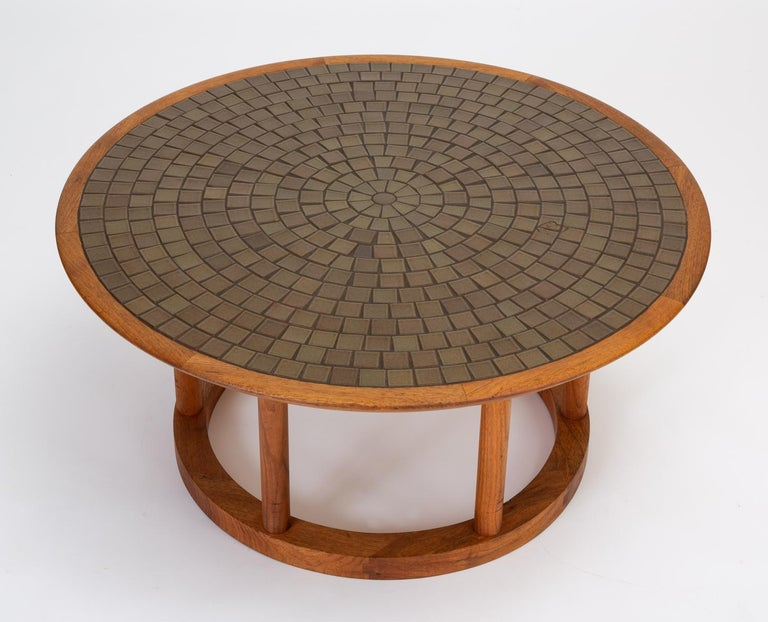 20th Century Gordon & Jane Martz Round Coffee or Occasional Table for Marshall Studios For Sale